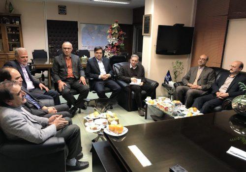 دیدار و گفتگوی استاندار قزوین به همراه معاون اقتصادی با رئیس دامپزشکی کشور